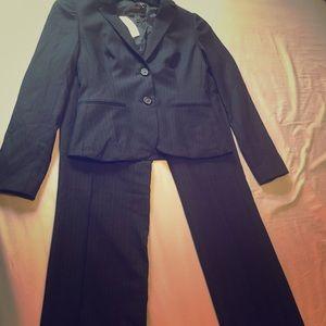 J Crew navy pin stripe suit set